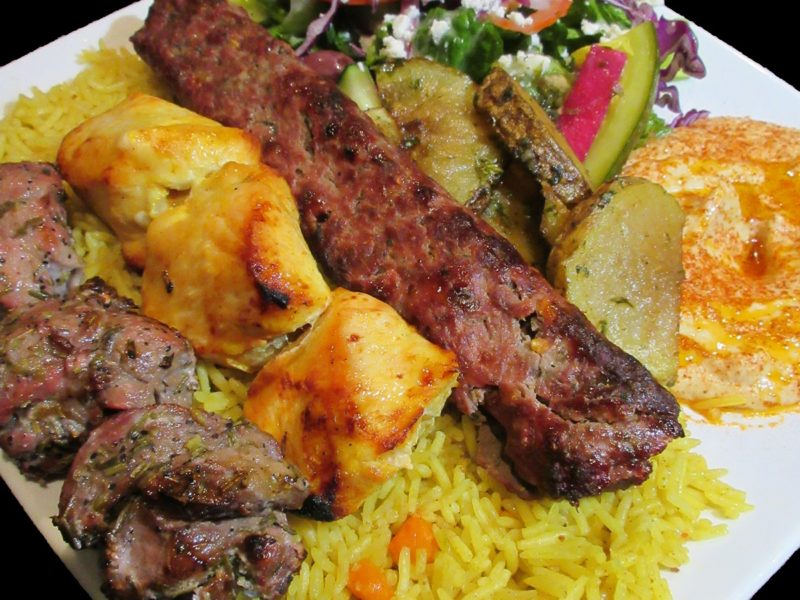 CHICKEN, LAMB & SHISH PLATTER
